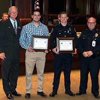 Colleyville City Council Honors Officers for Lifesaving Efforts